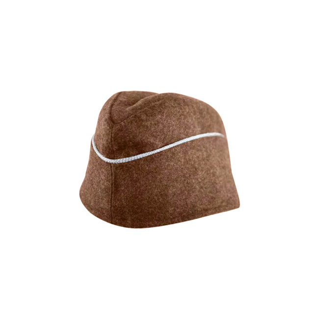 WWII German M40 Politic Officer overseas cap brown