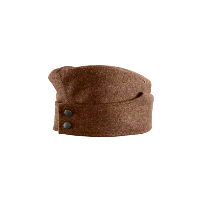 WWII German M42 Politic EM overseas cap brown
