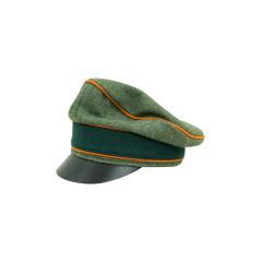 WWII German Heer Wool Field Police Crusher Visor Cap