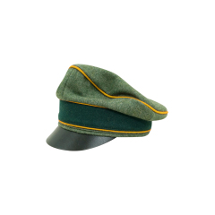 WWII German Heer Wool Cavalry / Recon Crusher Visor Cap