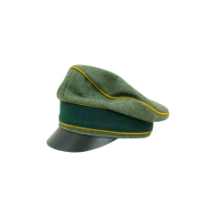 WWII German Heer Wool Signal Crusher Visor Cap