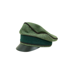 WWII German Heer Wool Pioneer Crusher Visor Cap