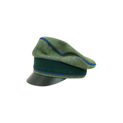 WWII German Heer Wool Transport Unit Crusher Visor Cap