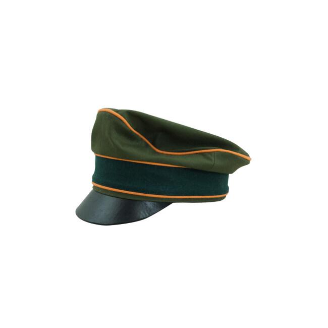 WWII German Afrikakorps Heer Field Police cotton crusher visor cap