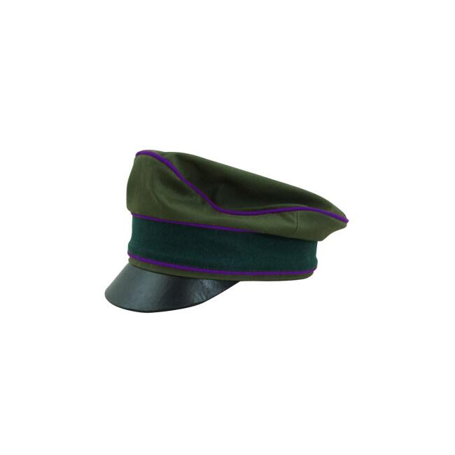 WWII German Afrikakorps Heer Chaplains cotton crusher visor cap
