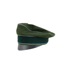 WWII German Afrikakorps Heer Officer cotton Crusher Cap Small Visor