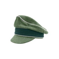 WWII German Heer M37 Wool Infantry Crusher Visor Cap