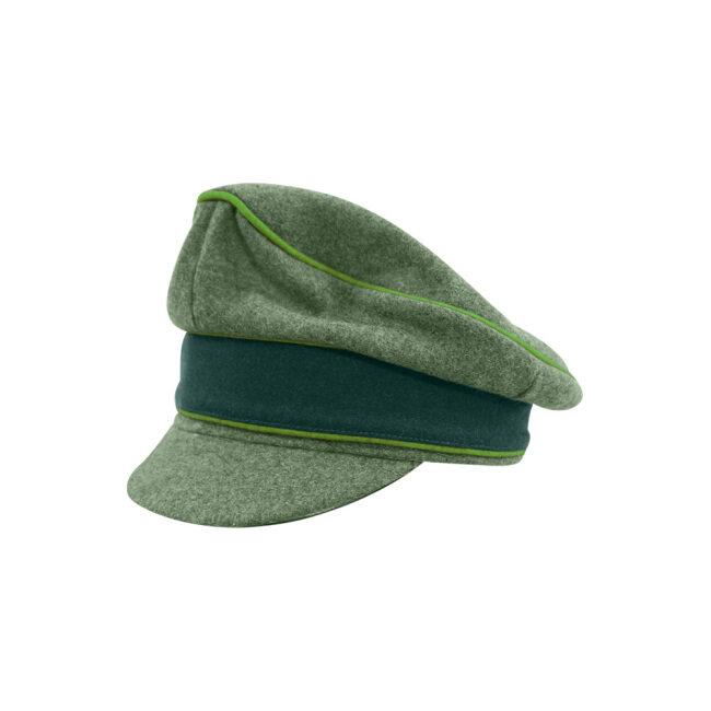 WWII German Heer M37 Wool Mountainer Crusher Visor Cap