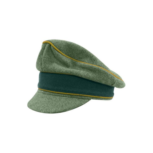 WWII German Heer M37 Wool Signal Crusher Visor Cap