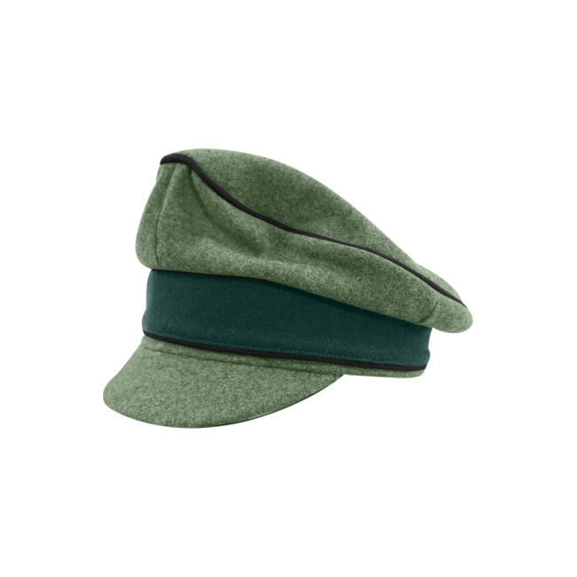 WWII German Heer M37 Wool Pioneer Crusher Visor Cap