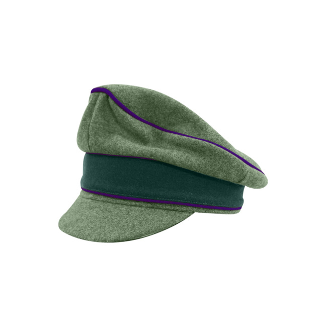 WWII German Heer M37 Wool Chaplains Crusher Visor Cap
