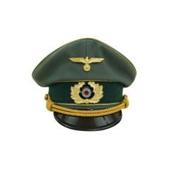 WWII German Heer General Gabardine visor cap with insignia