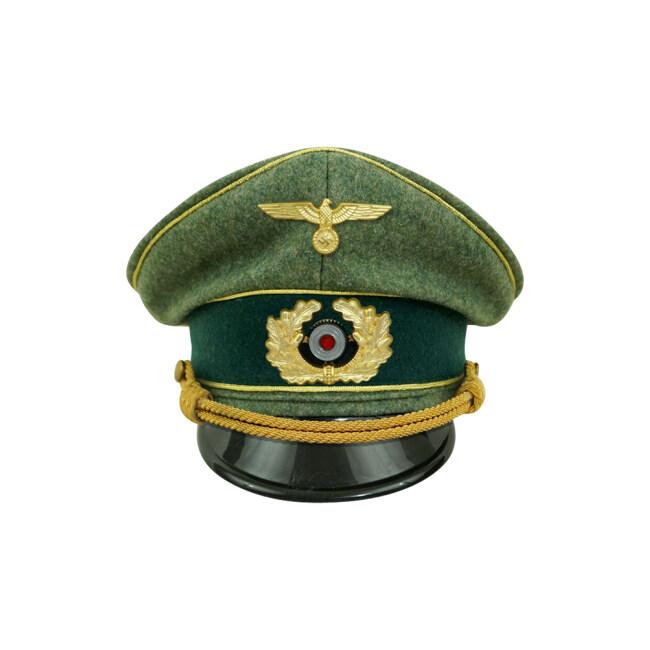 WWII German Heer General Wool visor cap with insignia