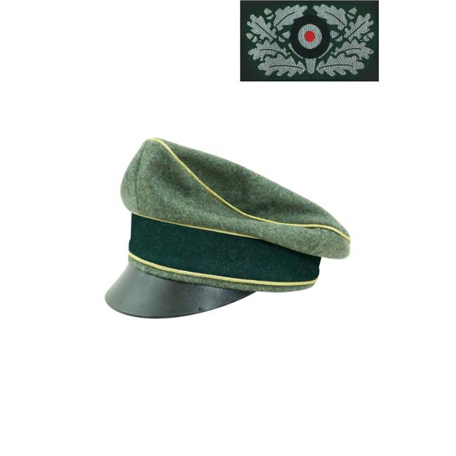 WWII German Heer General Wool Crusher visor cap with insignia