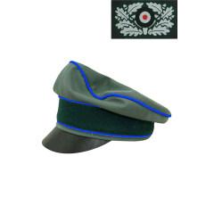 WWII German Heer Gabardine Medical Crusher Visor Cap with insignia