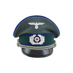 WWII German Heer Medical officer Gabardine Visor Cap with insignia