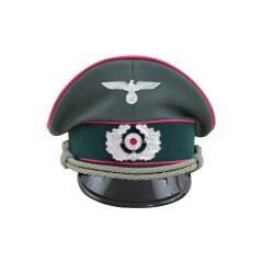 WWII German Heer Panzer officer Gabardine Visor Cap with insignia