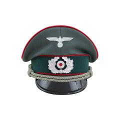 WWII German Heer Artillery officer Gabardine Visor Cap with insignia