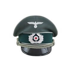 WWII German Heer Infantry officer Gabardine Visor Cap with insignia