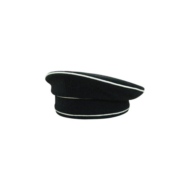 WWII German Early Allgemeine SS black wool cap