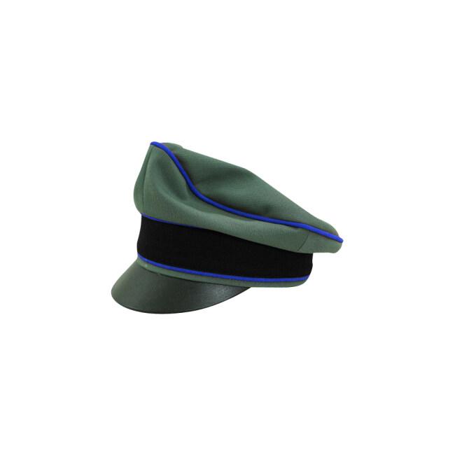 WWII German Waffen SS Gabardine Medical Crusher Visor Cap
