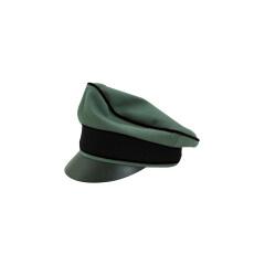 WWII German Waffen SS Gabardine Pioneer Crusher Visor Cap