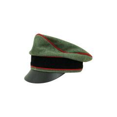 WWII German Waffen SS Wool Artillery Crusher Visor Cap