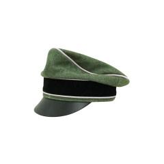 WWII German Waffen SS Wool Infantry Crusher Visor Cap
