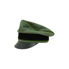 WWII German Waffen SS Wool Panzergrenadier Crusher Visor Cap