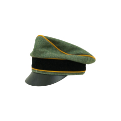 WWII German Waffen SS Wool Cavalry / Recon Crusher Visor Cap