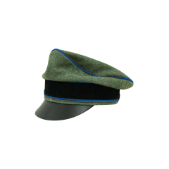 WWII German Waffen SS Wool Transport Unit Crusher Visor Cap