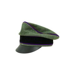 WWII German Waffen SS Wool Chaplains Crusher Visor Cap