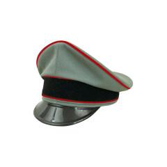 WWII German Waffen SS Artillery officer Gabardine Visor cap