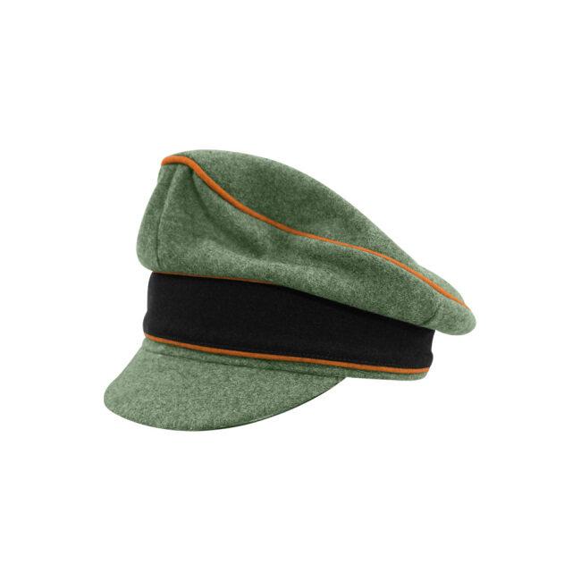WWII German Waffen SS M37 Wool Field Police Crusher Visor Cap