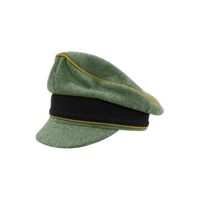 WWII German Waffen SS M37 Wool Signal Crusher Visor Cap