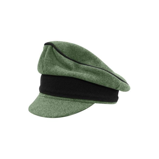 WWII German Waffen SS M37 Wool Pioneer Crusher Visor Cap