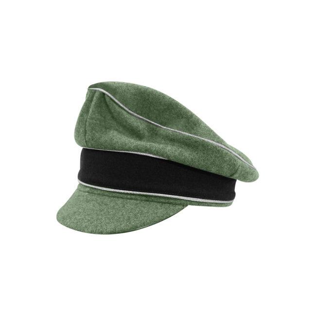 WWII German Waffen SS M37 Wool Officer Crusher Visor Cap