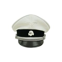 WWII German Allgemeine SS General officer white cotton Visor cap with insignia