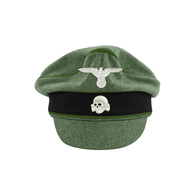 WWII German Waffen SS M37 Wool Panzergrenadier Crusher Visor Cap with insignia