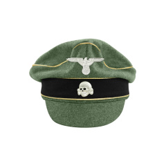WWII German Waffen SS M37 Wool Reichsführer Crusher Visor Cap with insignia