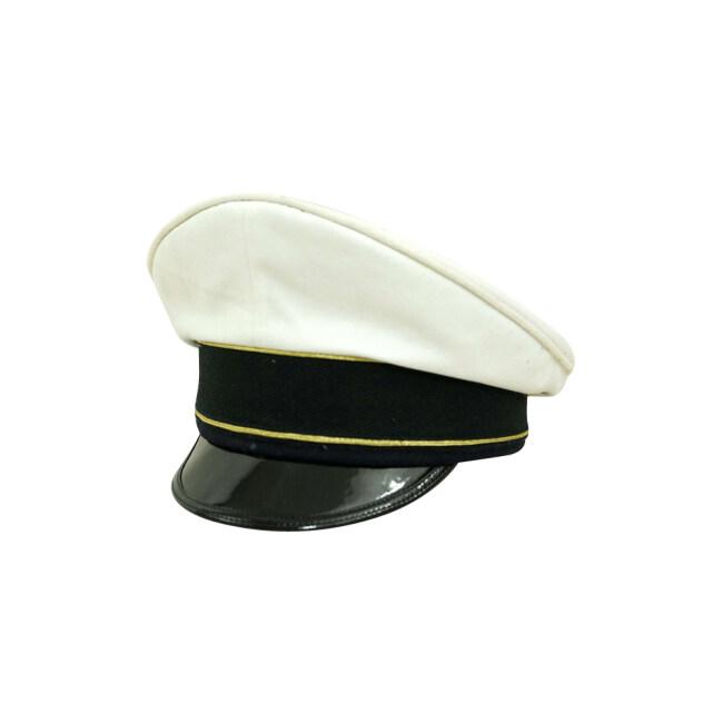 WWII German Luftwaffe General summer white Cotton Visor cap