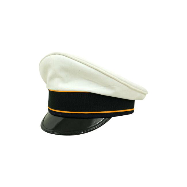 WWII German Luftwaffe Flight summer white Cotton Visor cap