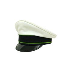 WWII German Luftwaffe Air Traffic Control summer white Cotton Visor cap