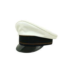 WWII German Luftwaffe Air Signals summer white Cotton Visor cap