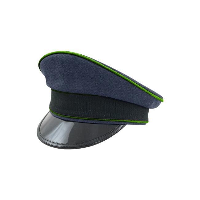 WWII German Luftwaffe Air Traffic Control blue Gabardine Visor cap