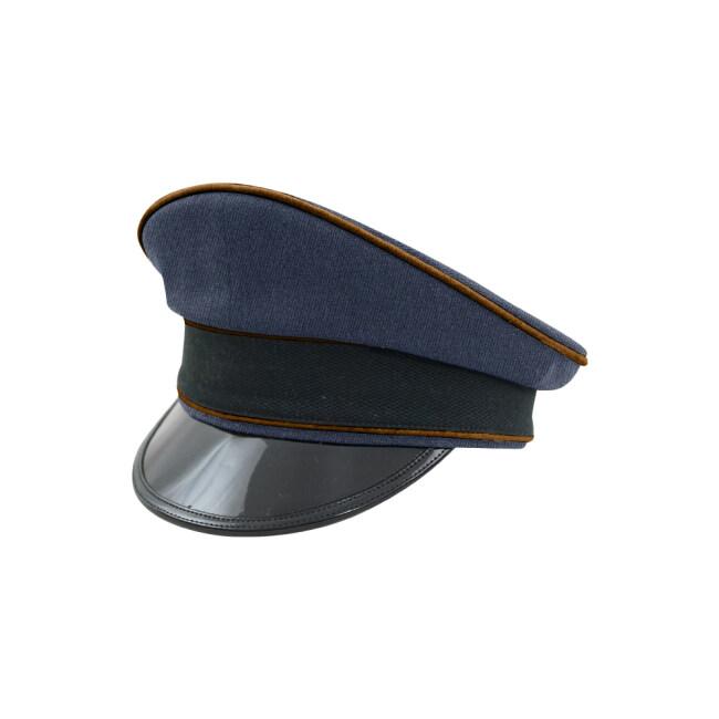 WWII German Luftwaffe Air Signals blue Gabardine Visor cap