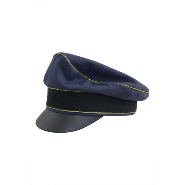 WWII German Luftwaffe General blue Gabardine Crusher Visor cap
