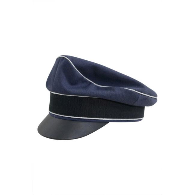 WWII German Luftwaffe Officer blue Gabardine Crusher Visor cap