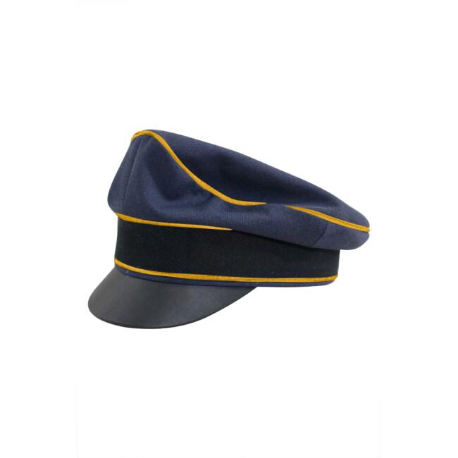 WWII German Luftwaffe Flight blue Gabardine Crusher Visor cap