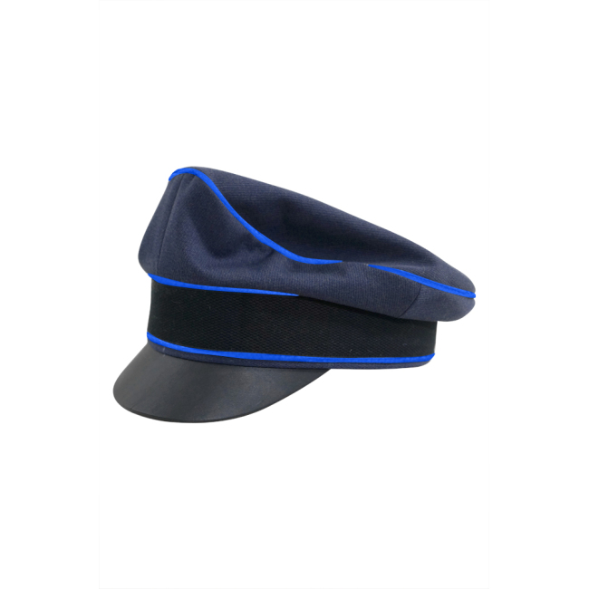 WWII German Luftwaffe Medical blue Gabardine Crusher Visor cap